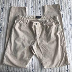 BANANA REPUBLIC Beige Corduroy Skinny pants sz 30